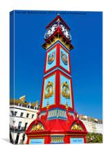 Jubilee Clock Tower, Weymouth, Dorset, UK, Canvas Print