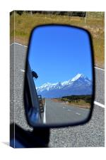 Reflection of Mount Cook, Canvas Print