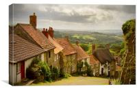 Gold Hill Shaftesbury, Canvas Print