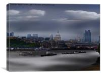 River Thames and the London skyline, Canvas Print