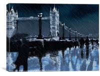 Love at the tower                        , Canvas Print