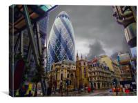 The Iconic Gherkin                      , Canvas Print