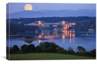 Wales Anglesey Menai Bridge, Canvas Print