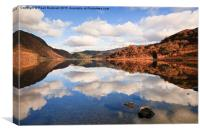 Reflections in Llyn Dinas, Canvas Print