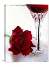 Red Rose and Wine, Canvas Print