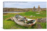Old Fishing Boat Hebrides, Canvas Print