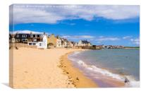 Elie and Earlsferry Beach Scotland, Canvas Print
