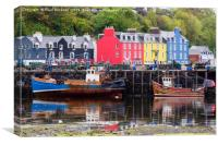 Tobermory Harbour, Canvas Print