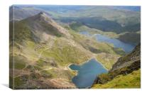 View from Snowdon before summit, Snowdonia, UK, Canvas Print