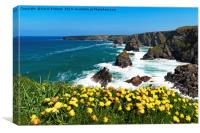 bedruthan steps cornwall, Canvas Print