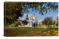 St Michaels Golden Domed Monastery, Canvas Print