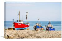 Colourful Fishing Boats, Canvas Print