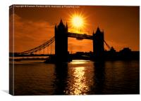 Sunrise Over Tower Bridge, Canvas Print