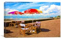 Cafe at Southend on Sea, Canvas Print