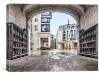 Archway To Paternoster Square, Canvas Print