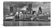 London Skyline in Black and White , Canvas Print