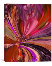 Abstract Peonies Digital Painting, Canvas Print