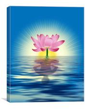 Lotus Reflection, Canvas Print