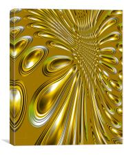 Abstract 3d Metallic Shapes, Canvas Print