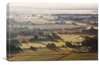 Kent Countryside Misty Sunrise, Canvas Print