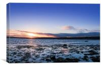 Sunset Across Mounts Bay, Canvas Print