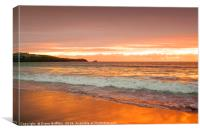 Fistral Beach Sunset, Newquay, Canvas Print