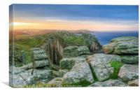 Lands End Sunrise, Cornwall, Canvas Print