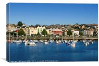 Penzance Harbour and Town, Canvas Print