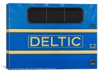 Deltic name yellow on blue on a preserved historic, Canvas Print