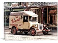 Vintage Delivery Van, Canvas Print