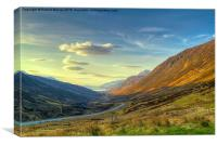 Sunset in Glen Docherty, Canvas Print