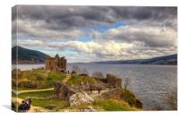 Urquhart Castle and Loch Ness,  Scotland., Canvas Print