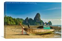 Long-tail Boat, Thailand, Canvas Print