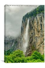 Staubbach Waterfall, Lauterbrunnen, Switzerland, Canvas Print