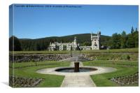 Balmoral Castle from the Castle gardens, Canvas Print