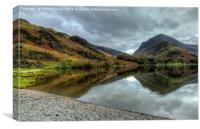Autumn Reflections at Buttermere Lake, Canvas Print