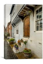Interesting doorway in St Albans, England., Canvas Print