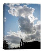 Bolton Abbey Silhouette, Canvas Print