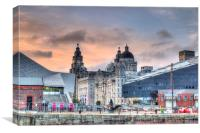 Liverpool waterfront HDR, Canvas Print