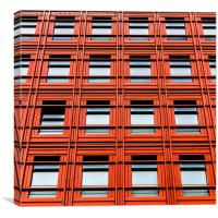Red office block in London, Canvas Print