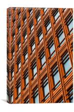 Orange tower of offices in London, Canvas Print