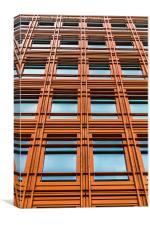 Abstract orange office block, Canvas Print