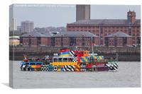 Dazzle ferry on the Mersey, Canvas Print