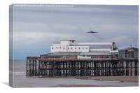 XH558 approaches Blackpool for the last time, Canvas Print