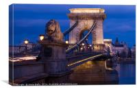 Pretty lights on Chain Bridge, Canvas Print