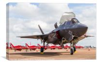 F-35 Lightning II in front of the Red Arrows, Canvas Print