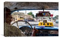 View from the back seat, Canvas Print
