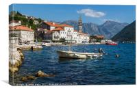 Perast in the Bay of Kotor, Canvas Print