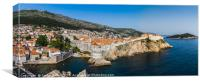Dubrovnik old town panorama, Canvas Print