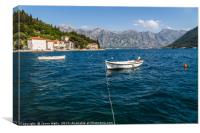 Pretty Perast in the Bay of Kotor, Canvas Print